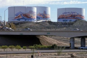"""The Project Rio"" murals in Yuma. Photo credit: Sam Lowe"