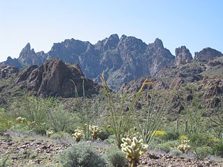 Kofa Mountains, southwestern Arizona, taken by Spirituscanis for Wikipedia.