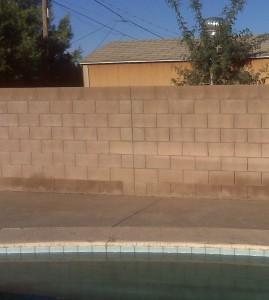 Concrete Block Fence