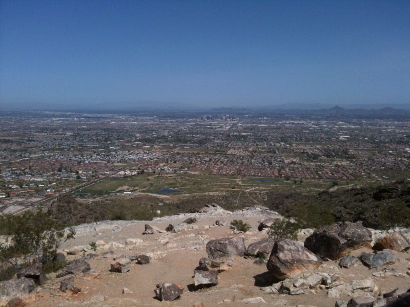 View from Dobbins Lookout at South Mountain Preserve