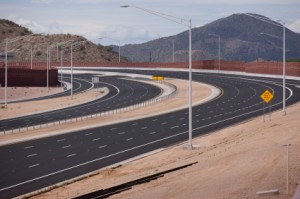 Rubberized Asphalt on Mesa Freeway