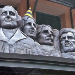 Miniature Mount Rushmore and King Kong at Freedom Station