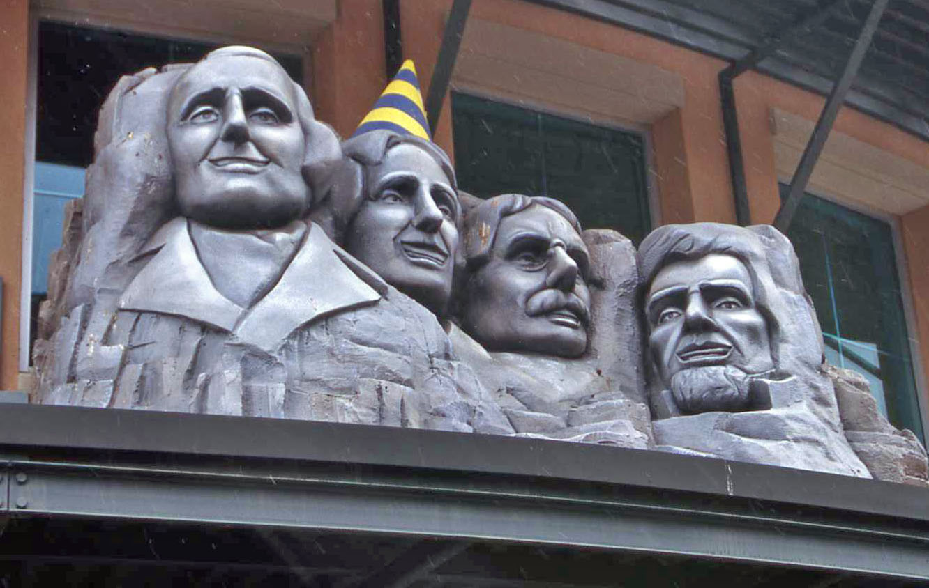 Miniature Mount Rushmore