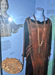 Sharlot Hall's Copper Dress