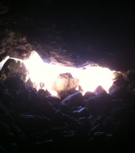 Arizona Lava River Cave Opening, Inside