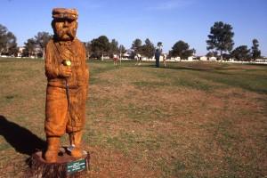 Tree stump sculpture