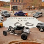 Massive Road Sign Marks Route 66 in Winslow