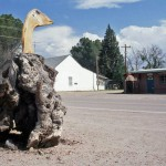 A Lumpy Goose Sculpture in Arivaca