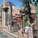 Tucson Home Surrounded by Styrofoam Desert Scenes