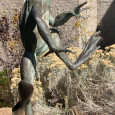 Frog statue at Yavapai County College Sculpture Garden. Photo Credit: Sam Lowe