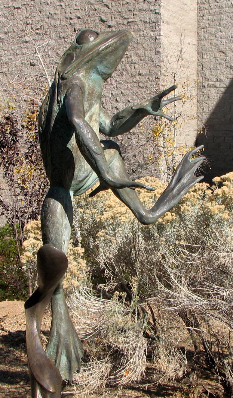 Frog Statue At Yavapai County College Sculpture Garden. Photo Credit: Sam  Lowe