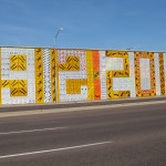 Old Highway Signs Make up Centennial Tribute in Downtown Phoenix