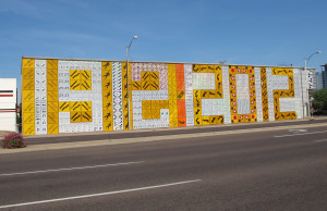 Centennial tribute in downtown Phoenix. Photo Credit: Sam Lowe