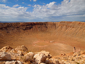 Meteor Crater is nearly a mile wide. Photo Credit: Kevin Korycanek