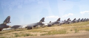 B-1 Bombers in storage at The Boneyard. Photo from Wikipedia.org.