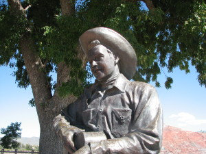 Rex Allen statue in Willcox. Photo Credit: Sam Lowe