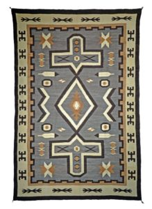Navajo border designs Food Menu Page Authentic Navajo Rug In The Two Grey Hills Style Woven Between 19101920 Made Of Churro Wool Its Hero Twin Border Design Represents The Monster Slayer Shutterstock How To Identify Authentic Navajo Weavings Arizona Oddities