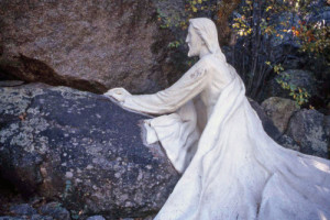 Concrete statue at the Shrine of St. Joseph in Yarnell. Photo Credit: Sam Lowe