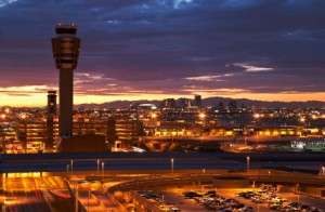 Sky Harbor Airport at Sunset