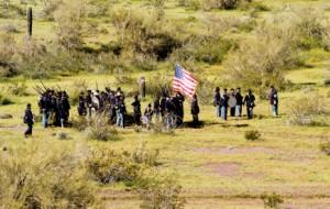 Civil War Performers at Picacho Peak