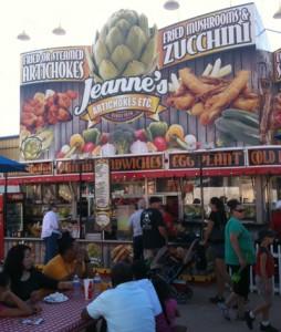 Fried Artichoke Food Stand at the Arizona State Fair