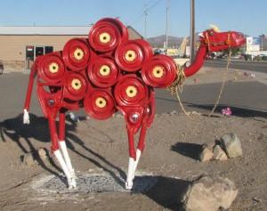 Scap pile camel