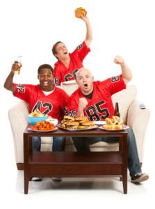 football game eating