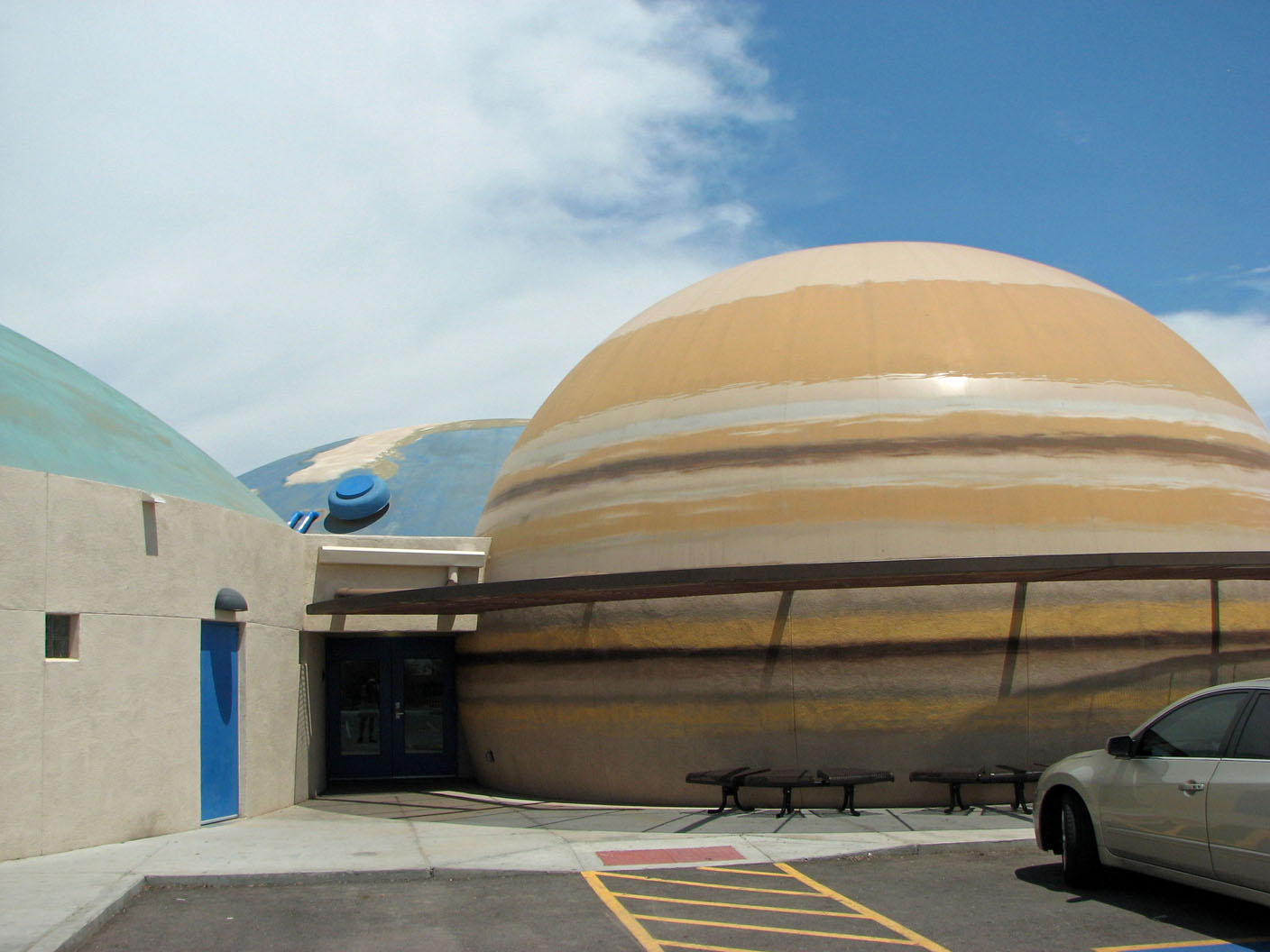 Buildings at Robert L. Duffy High School in Phoenix are painted like planets. Photo Credit: Sam Lowe