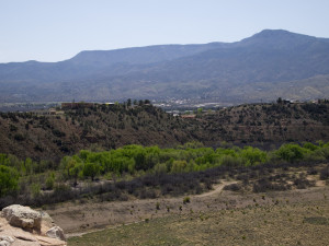 View of the Verde River and Clarkdale atop the Tuzigoot ruin. Photo Credit: Kevin Korycanek