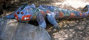 Lizard sculpture by Martin Salter in Oracle, AZ.