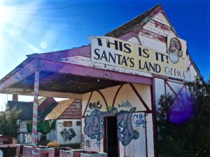 The old Santa Claus village is up for sale. Photo by Marshall Shore.