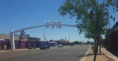 Gateway Arch on McDowell Road