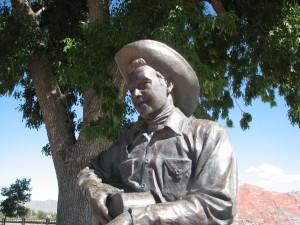 Rex Allen statue in Willcox. Photo Credit: Sam Lowe