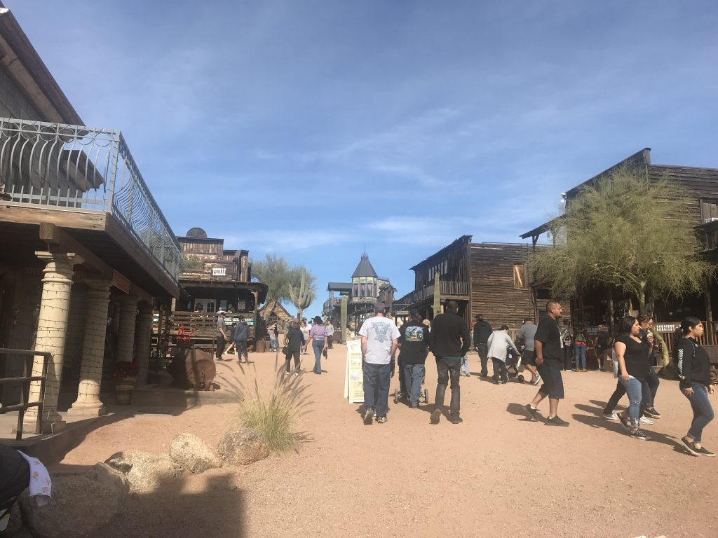 Goldfield Ghost Town tourists