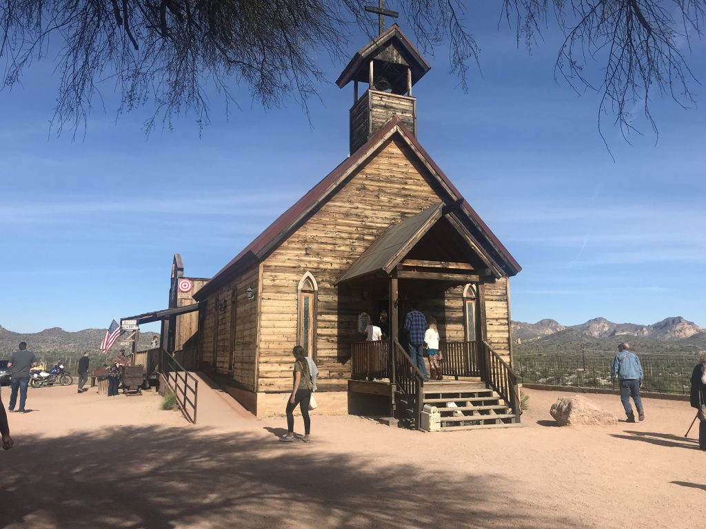 Goldfield Ghost Town church